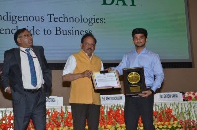 Abhay Receiving Award from NRDC